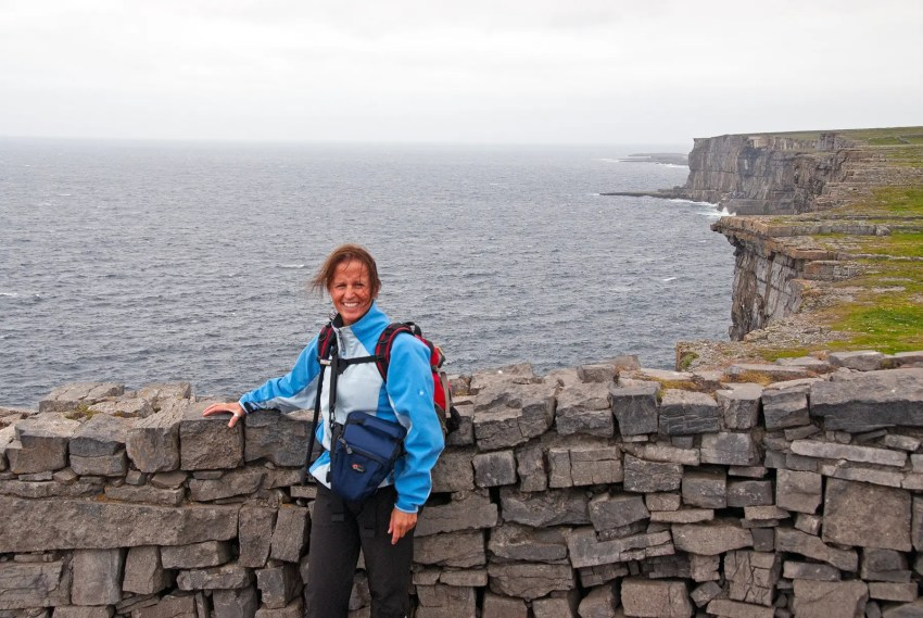 In Ireland at Dun Aengus
