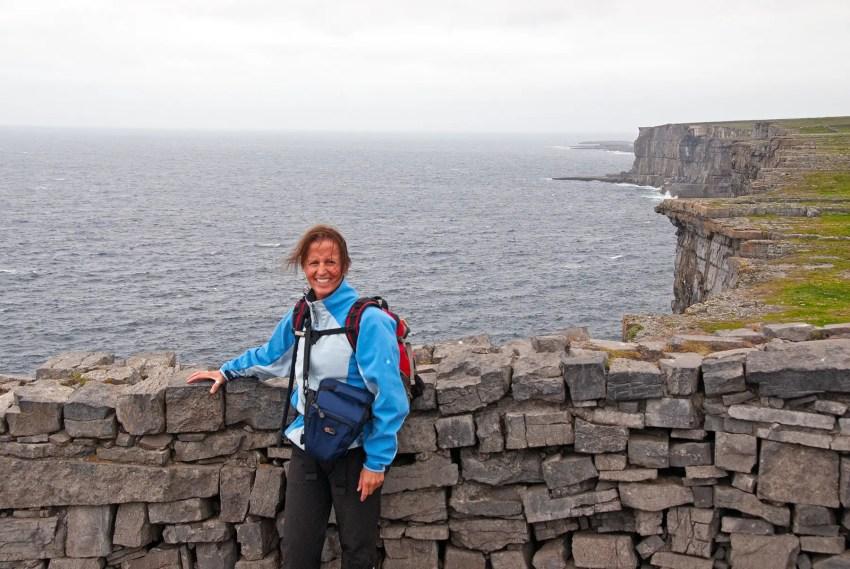 In Ireland at Dun Aengus