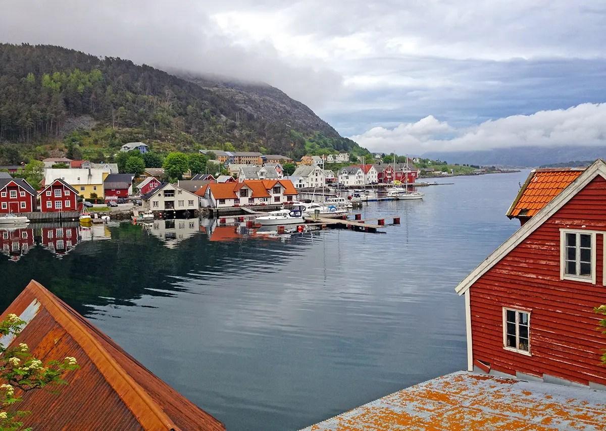 Kalvag in fjord area