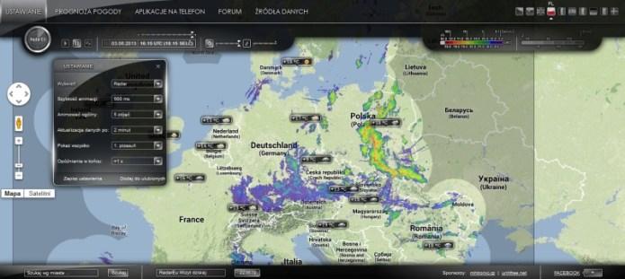 Radarowa Mapa Opadow W Europie Andrychow