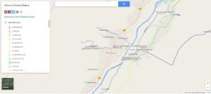 Mapa ulic w gminie Wieprz