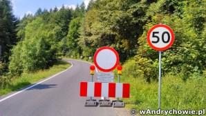 Zamknięta droga wojewódzka 781 w Kocierzu Rychwałdzkim