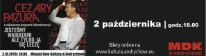 Stand-up Cezarego Pazury - Andrychów, 2 paździenika 2015