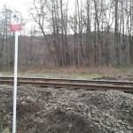 Zlikwidowany przejazd kolejowy obok ulicy Słonecznej w Andrychowie