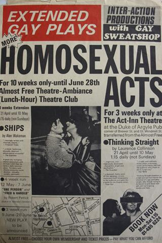 Homosexual acts poster