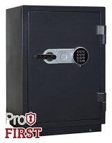 Profirst Versal Fire 65 Feuerschutztresor ECB S FS60P, feuerfester Dokumenschrank, Tresor mit Elektronikschloss, Zertifizierter Möbeltresor inkl. Verankerungsmaterial – 1