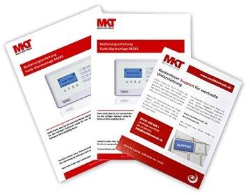 GSM Funk-Alarmanlage Set von Multi Kon Trade I Alarmanlage Komplettsystem M2BX SET-4 I Touch Alarmanlage mit Bewegungsmelder, Tür- und Fensterkontakt, Fernbedienung, externe Sirene und App Steuerung - 3