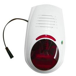 Multi Kon Trade: Funk Aussensirene mit Blitzlicht für unsere Alarmanlagensysteme * 433 MHZ * - 1