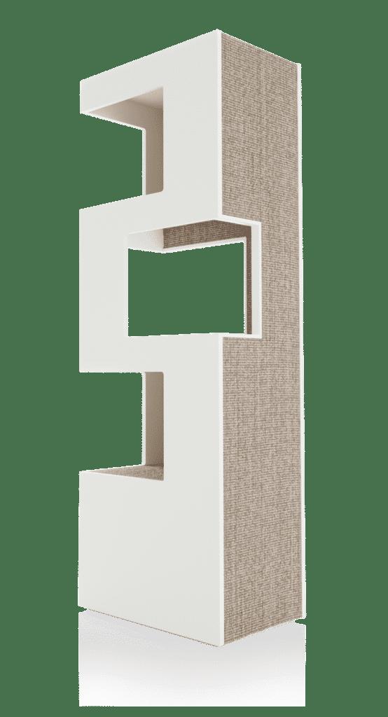 arbre a chat de luxe blanc griffoir