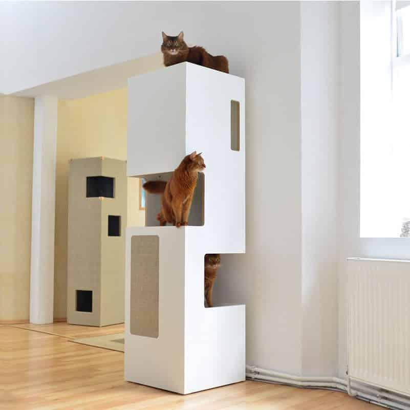 arbre a chat tour de luxe blanc