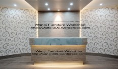 meja reception furniture kantor