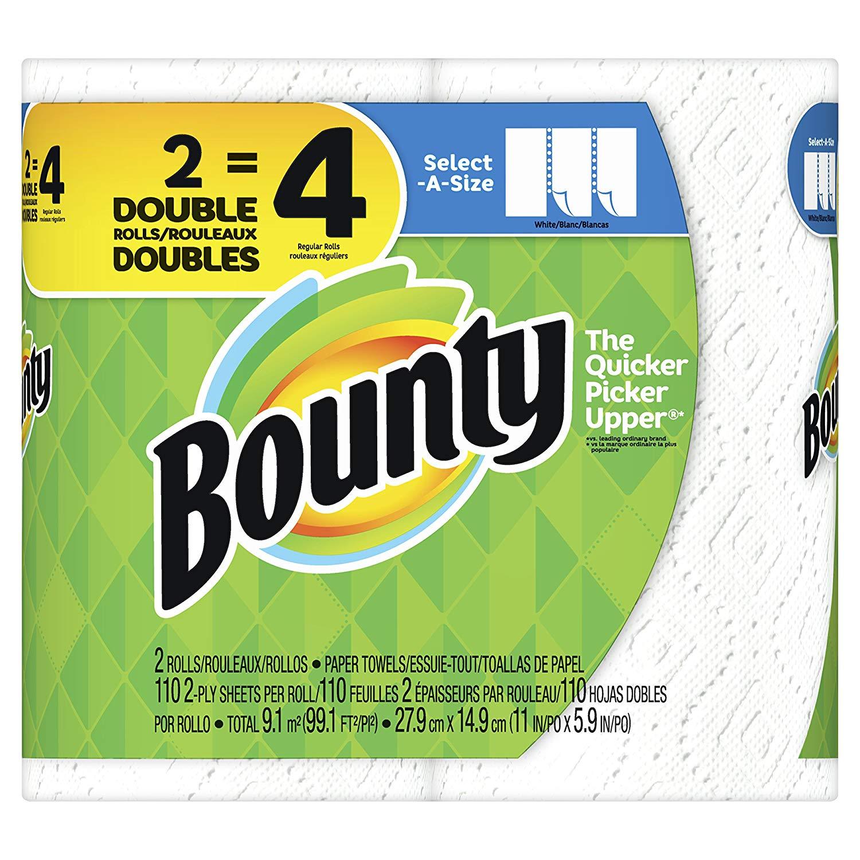 Bounty double roll laminate splashback behind gas hob