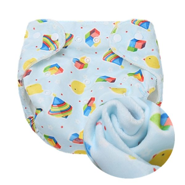 1PC Baby Cloth Diaper Reusable Nappy Baby Newborn Diapers Nappies Pocket Washable Diaper Cover One Size 9