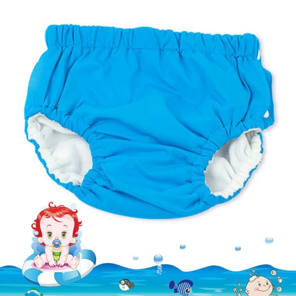 Baby Swim Nappy Diaper Cover Waterproof Swimwear Panties Cloth Nappies Swimming Pool Pants for Infant Toddler 10
