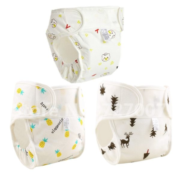 Cartoon Washable Baby Cloth Diaper Pocket Waterproof Cotton Baby Diapers Reusable Cloth Diaper Nappies Cover For 5
