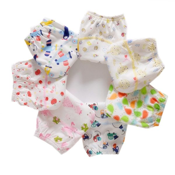Cotton Reusable Baby Training Pants Infant Shorts Underwear Cloth Diaper Nappies Baby Waterproof Potty Training panties 15