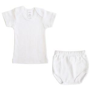 White Interlock T- Shirt & Panty Set