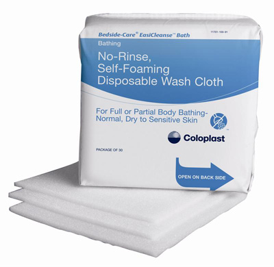 Coloplast Bath Wipe Bedside-Care EasiCleanse Soft Pack Sodium Cocoyl Isathionate / Panthenol Unscented 5 Count - Case of 500