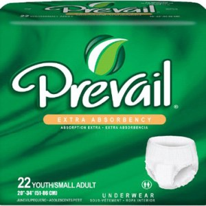 Prevail Extra Protective Underwear, Youth/Small 20 - 34 in - 88 cs (4x22ea)