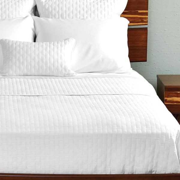 Bamboo Quilted Coverlet White ai1 3