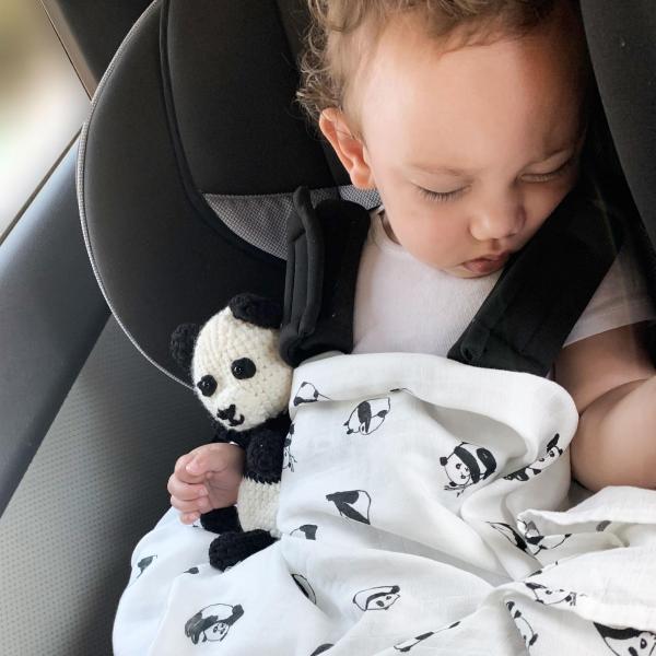 Panda Baby Rayon Viscose Bamboo Muslin Swaddle