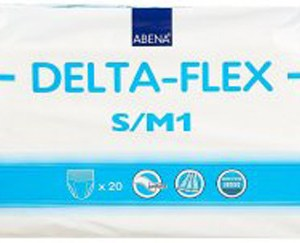 Abena Adult Absorbent Underwear Delta-Flex M1 Pull On Small / Medium Disposable Moderate Absorbency - 308891 - Case of 80