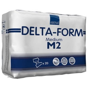 Abena Adult Incontinent Brief Delta-Form Tab Closure Medium Disposable Moderate Absorbency - 308862 - Case of 80