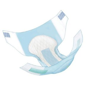 Covidien Wings Adult Incontinent Brief Ultra Tab Closure Medium Disposable Heavy Absorbency - Covidien 63073 - Case of 96