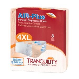 AIR-Plus Bariatric Disposable Briefs - 4XL - 2195 32 /cs (4 bags of 8)