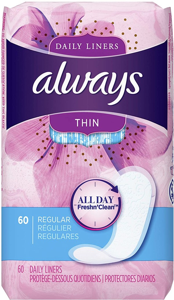 Always Thin Dailies Liners 60 count
