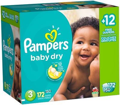 Pampers Baby-Dry ECON BONUS Size 3 - 172ct/1pk