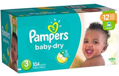 Pampers Baby Dry SUPERPACK size 3 - 104ct/1pk