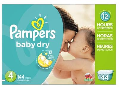 Pampers Baby-Dry ECON Size 4 - 144ct/1pk (new)