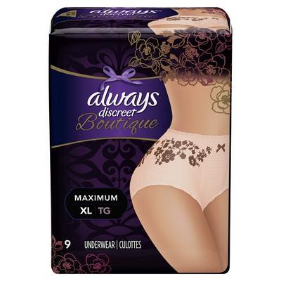 Always Discreet BTQ Underwear Max Prtcton Peach XL - 9ct/2pk