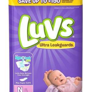 Luvs JUMBO 2X #0 Newborn  -  40ct/4pk