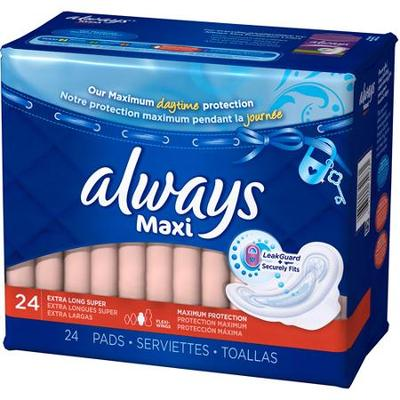 Always MAXI Max Protection w/WINGS SUPER - 24ct/3pk