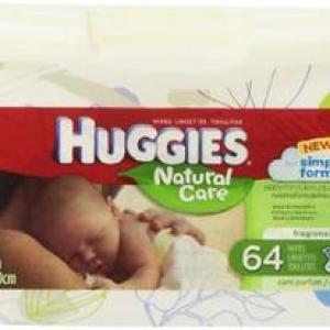 HUGGIES Wipes Natural Care TUB - 64ct/4pk