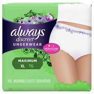 Always Discreet Underwear Maximum Protection XL - 15ct/3pk