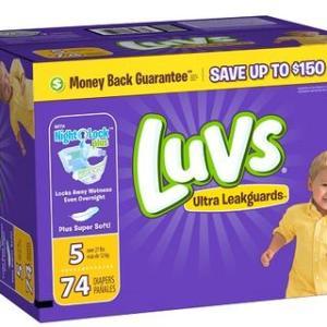 Luvs BIG PACK Size 5 - 74ct/1pk