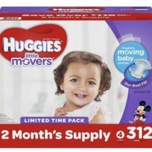 HUGGIES Little Movers Size 4 MEGA - 312ct/1pk