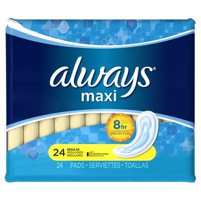 Always MAXI REGULAR NONWings - 24ct/12pk