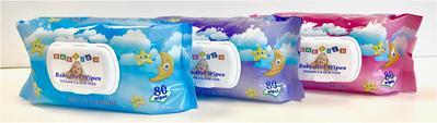 BABYISH Baby Wipes 80 ct. PINK - 80ct/24pk