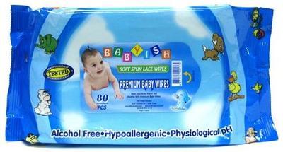 BABYISH Baby Wipes 80 ct. BLUE - 80ct/24pk