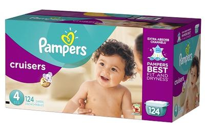 Pampers Cruiser Econ Size 4 - 124ct/1pk