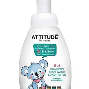 AttTide Little Ones 3in1 Foaming Wash Pear Nectar - 10oz/6pk