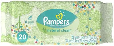 Pampers Wipes Natural Clean Pouch - 20ct/16pk
