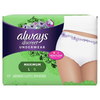 Always Discreet Underwear Maximum Protection Large- 17ct/3pk