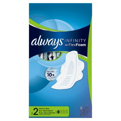 Always INFINITY Super Pads UNS w/Flexi-Wings - 32ct/6pk