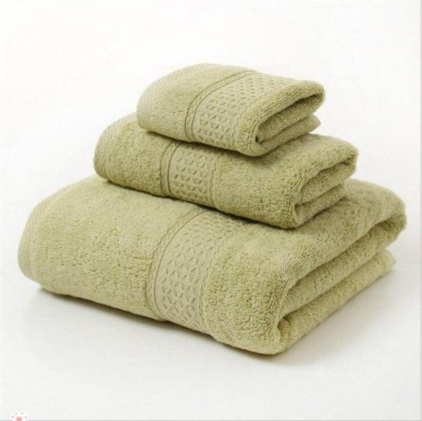 12 Colors 3 Pcs Cotton Absorbent Face Hand Bath Towel Sets Thick Bathroom Towels Cotton Adults 5