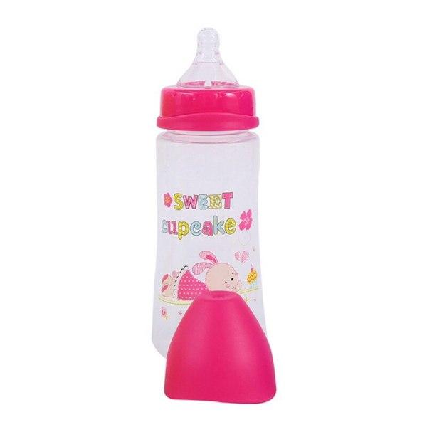 300ML Baby Cartoon Milk Wide Mouth Bottle Juice Bottle Baby Milk Bottle Safety Silicone Baby Bottle 2